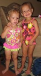 Karalyn and Lauryn ready to go swimming