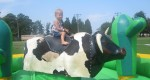 Lauryn riding the bull