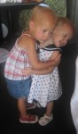Lauryn and Karalyn giving each other a hug