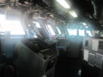 Control area of the ship (the Bridge)