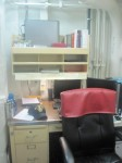 "Trenten's office (the red thing on the chair says ""Ships Chaplain"")"