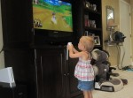 Lauryn wanted to play wii too