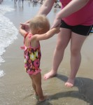 Lauryn getting some advice from her Aunt Ashton about the beach