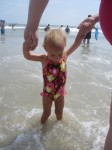 Lauryn enjoying the beach water