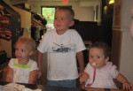 Karalyn, Layton, and Karsen at Pungo Pizza & Ice Cream